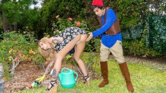 Asalak Sarışını Bahçede Taciz Ederek Ayartıyor
