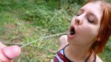 Çılgın Orospunun Ağzına Ormanda Hunharca Fışkırtıyor