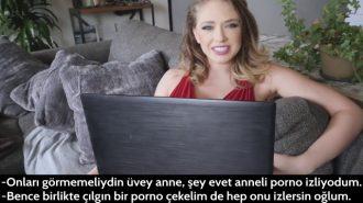 Seksi Üvey Anne Pornolarını Bulduğu Azgın Gence Gerçeğini Yaşattı